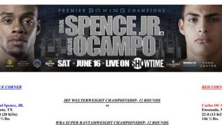 Bout Sheet: Errol Spence Jr vs Carlos Ocampo