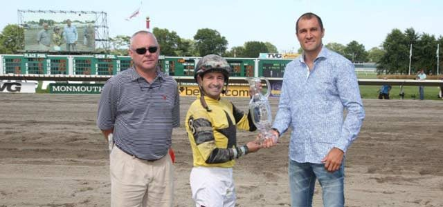Kovalev at Monmouth Park Haskell Winners Circle