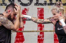 Bec Rawlings sparring