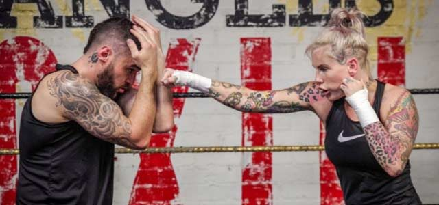 Bec Rawlings sparring