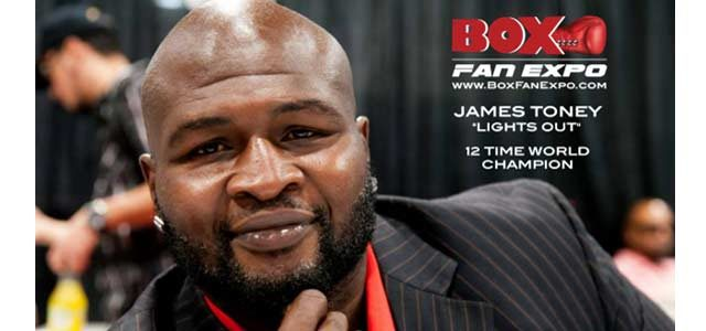 James Toney at Box Fan Expo