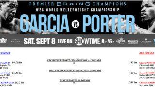 Bout Sheet - Garcia vs Porter