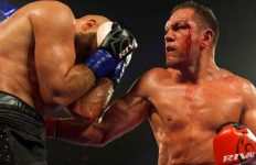 Pulev vs Dinu in action
