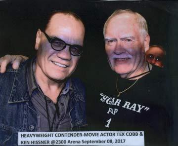 Tex Cobb and Ken Hissner 2017