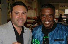 James Gibbs Jr with Oscar de la Hoya