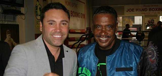 James Gibbs Jr with Oscar de la Hoya