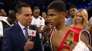 Shakur Stevenson Post Fight Interview