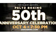 Peltz Boxing 50th Anniversary Banner