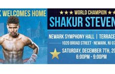 Shakur Stevenson in Newark Symphony Hall