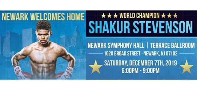 Shakur Stevenson in Newark Symphony Hall