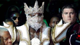 Deontay Wilder in controversial pre-fight Outfit